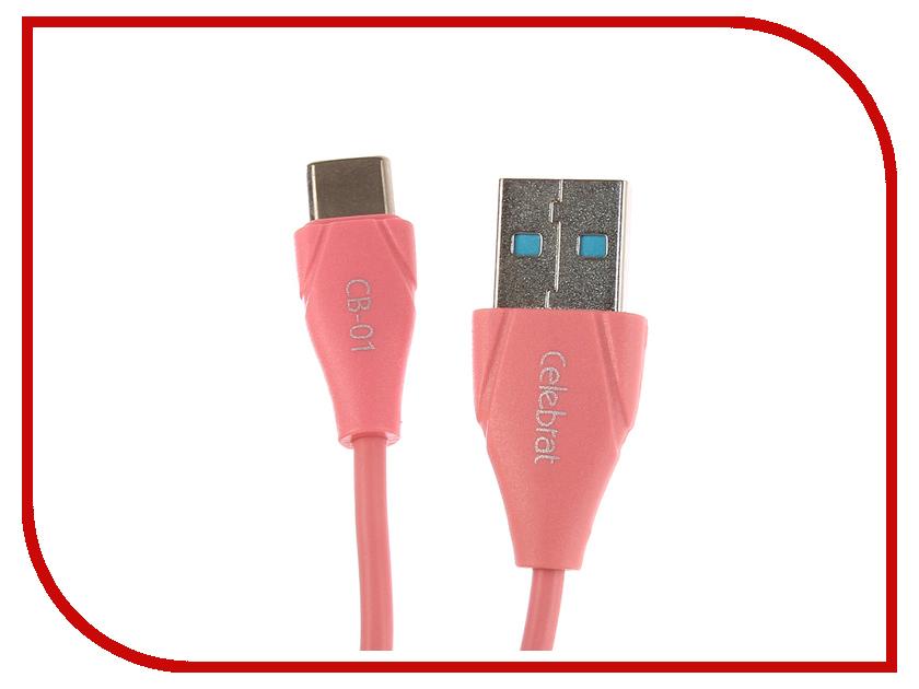 Аксессуар Celebrat USB - Type-C CB-01T Pink ferfree andy cb