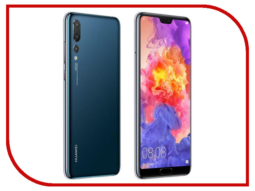 Сотовый телефон Huawei P20 Pro Blue кейс для назначение huawei p20 pro p20 бумажник для карт мешочек однотонный мягкий настоящая кожа для huawei p20 lite huawei p20 pro