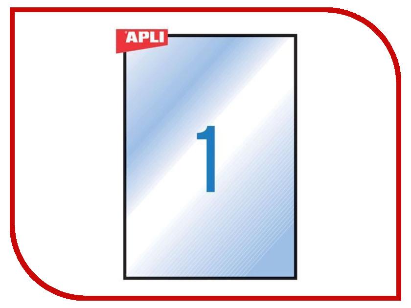 Бумага APLI A4 20 листов Самоклеящаяся 1 этикетка Transparent 01225