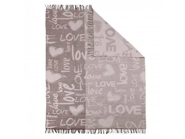 цена на Плед Vladi Сан-Ремо Love 140x200cm Light Brown-Light Beige-White 00054757