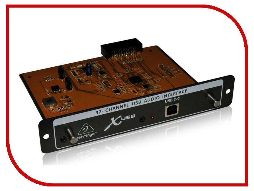 Аудиоинтерфейс Behringer X-USB плата расширения behringer x usb