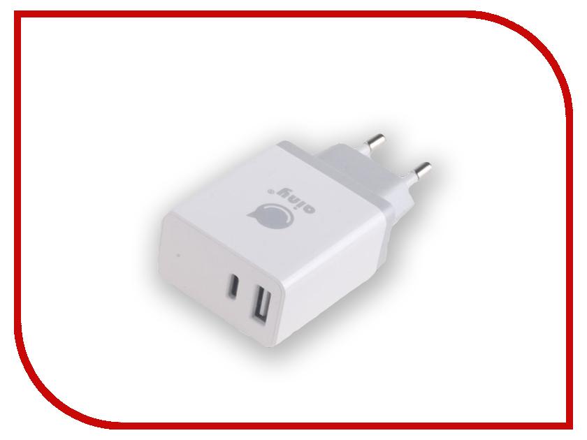 Зарядное устройство Ainy EA-042B Type-C - USB 3.4A White аксессуар ainy для apple usbx4 4 2a ea 034h зарядное устройство сетевое
