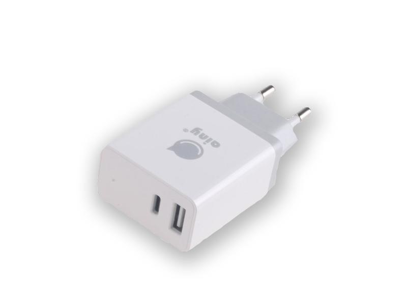 Зарядное устройство Ainy EA-042B Type-C - USB 3.4A White