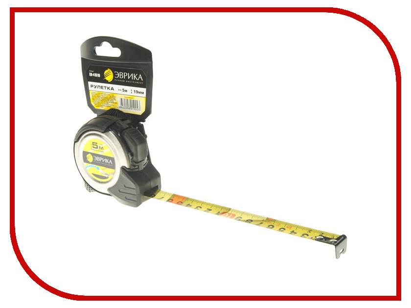 Рулетка Эврика 5m x 19mm Silver ER-41519 рулетка fit профи 5m x 19mm black yellow 17425