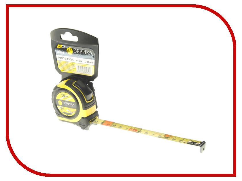 Рулетка Эврика 3m x 16mm Yellow ER-59316