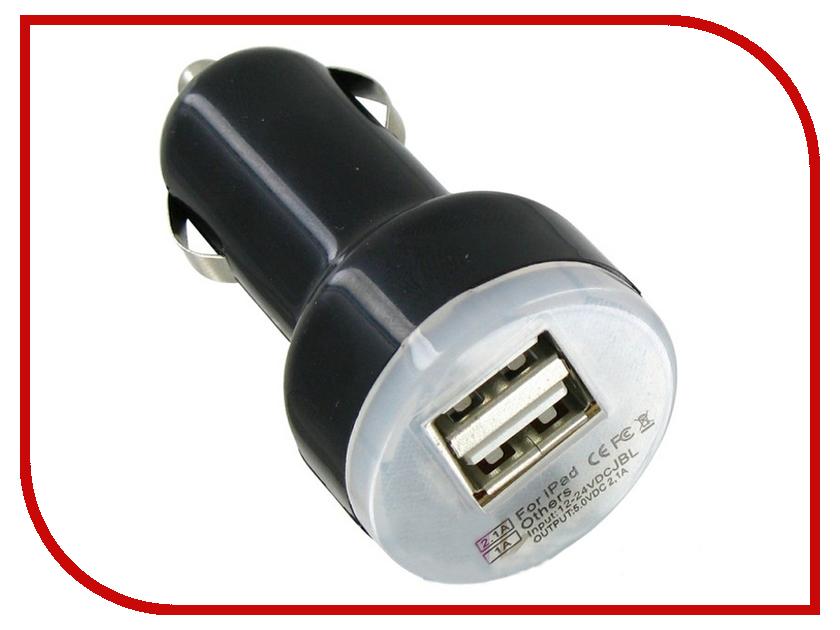 Зарядное устройство Krutoff 2xUSB 2.1/1.0A Black 5198 цены онлайн