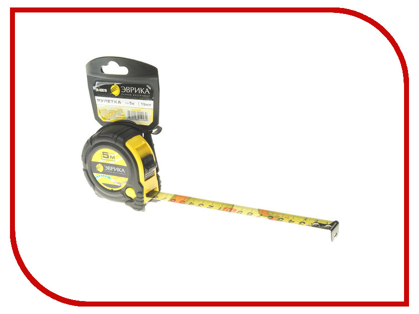 Рулетка Эврика 5m x 19mm Yellow ER-63519