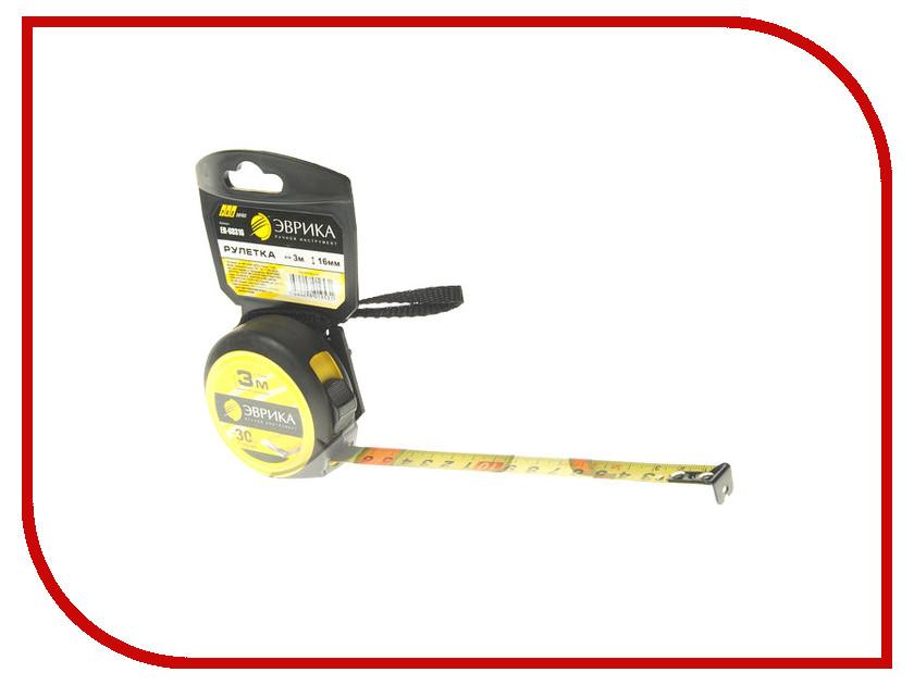 Рулетка Эврика 3m x 16mm Yellow ER-68316