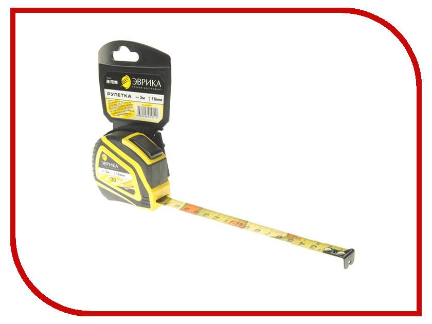 Рулетка Эврика 3m x 16mm Yellow ER-72316