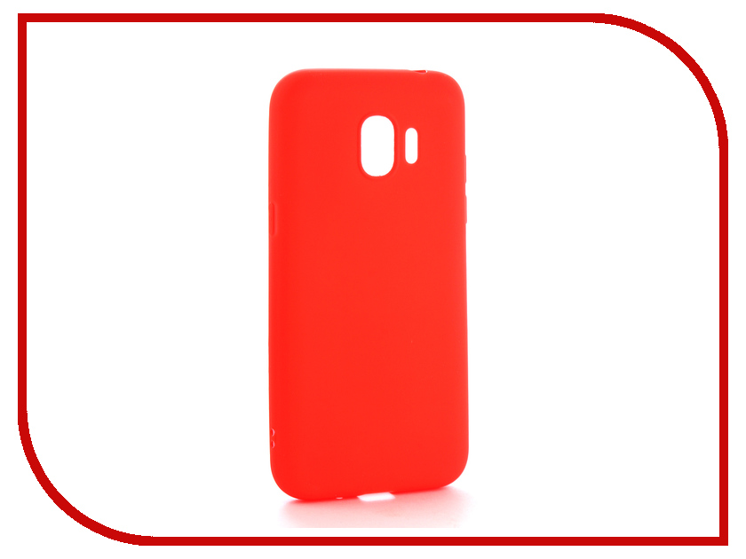 Аксессуар Чехол Samsung Galaxy J2 2018 Neypo Soft Matte Silicone Red NST3861 аксессуар чехол samsung galaxy a7 2017 with love moscow silicone russia 5090