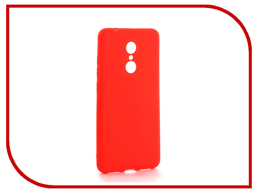 Аксессуар Чехол Xiaomi Redmi 5 Neypo Soft Matte Silicone Red NST3854 аксессуар чехол xiaomi redmi 4 onext silicone transparent 70500