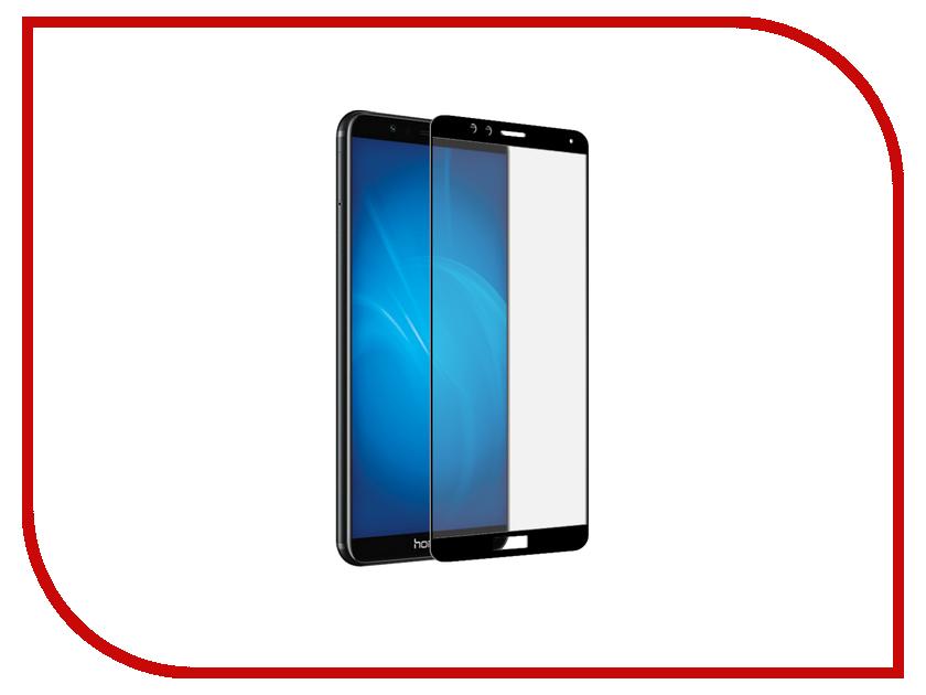 Аксессуар Защитное стекло Huawei Honor 7X Snoogy 3D FullGlue Black Sn-TG-3D-Hw-7X-blk 7x talk 7x