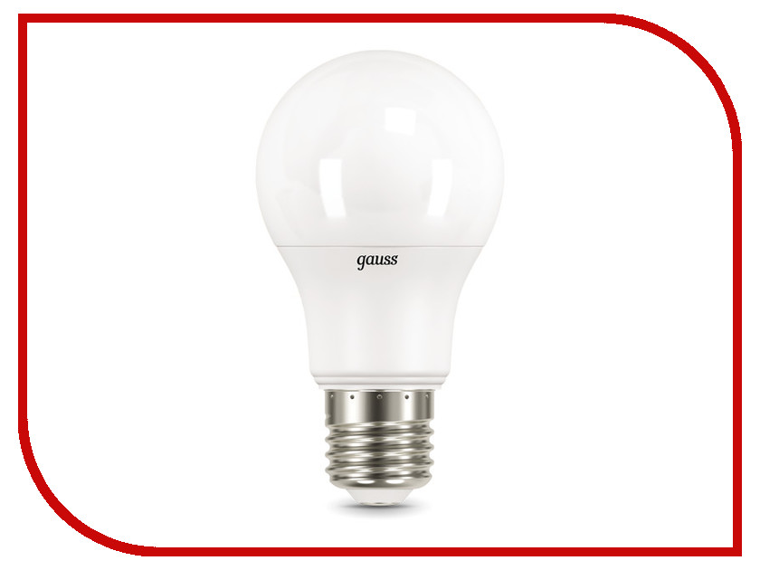Лампочка Gauss LED E27 A60 10W 4100K 102502210 light трансформатор и контроллер 10w ip44 max 210 led