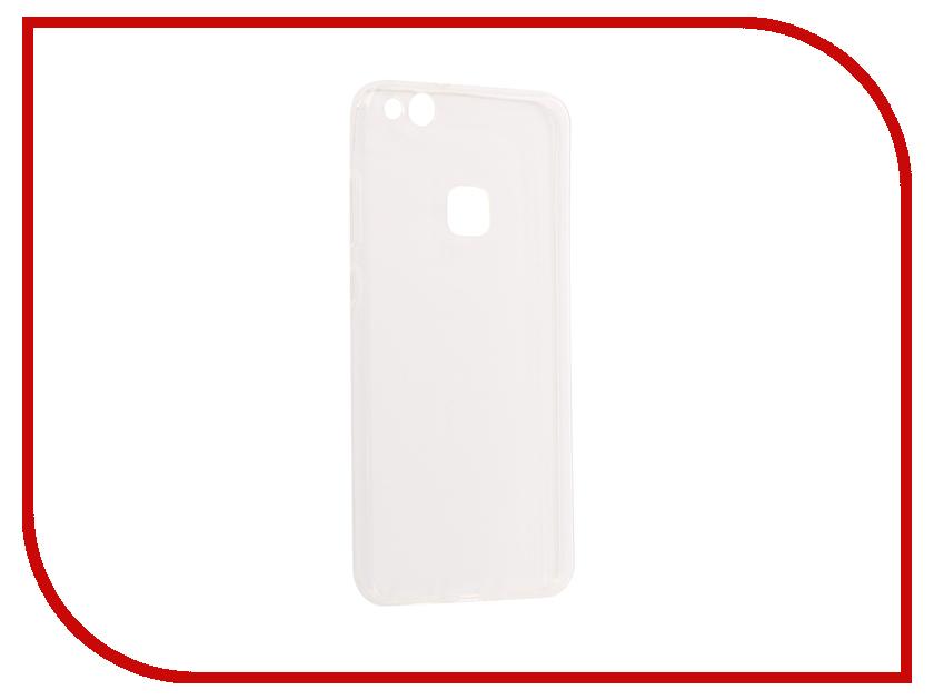 Аксессуар Чехол для Huawei P10 Lite Snoogy Silicone 0.35mm White Sn-slk-HW-p10L-wht аксессуар чехол huawei p10 lite with love moscow silicone coffee 6289