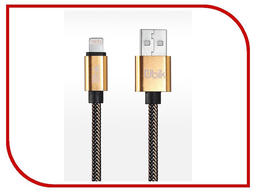 Аксессуар Ubik UL01 USB - Lightning 1.0m Gold аксессуар usams us sj049 lightning micro usb 2 0 f metal gold