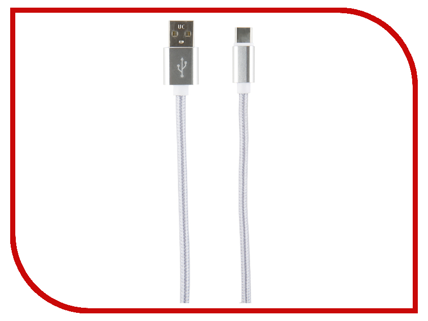 Аксессуар Red Line USB - Type-C 2m Silver кабель red line usb – usb type c 1m green
