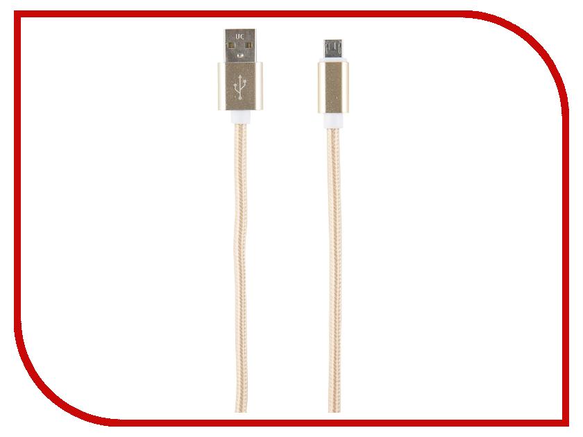 Аксессуар Red Line USB - microUSB 2m Gold red line orange кабель usb microusb 1 м