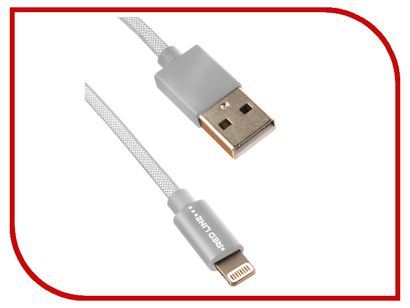 Аксессуар Red Line USB - Lightning 8 pin 2m Silver УТ000014152 альбанезе м альбом ангкор величие кхмерской цивилизации isbn 5170206402