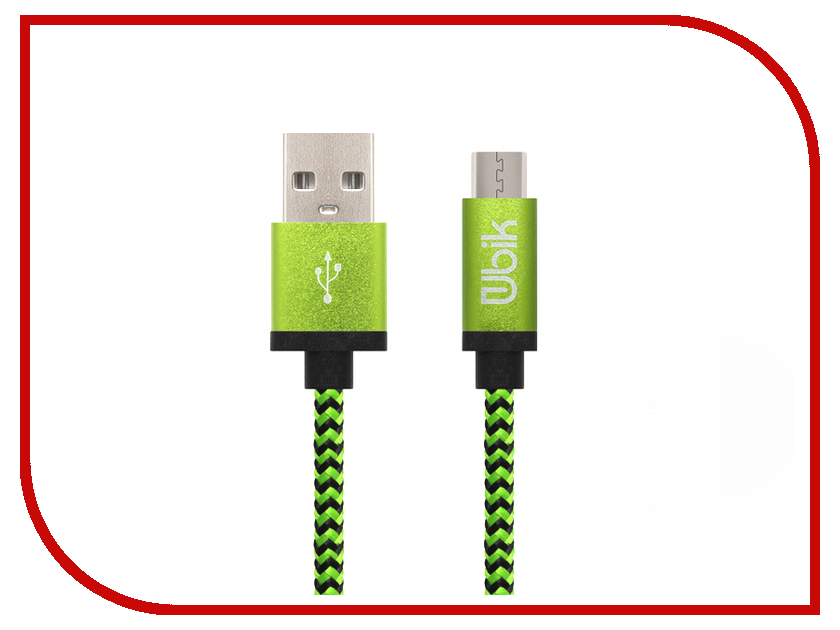 Аксессуар Ubik UM03 USB - MicroUSB 1.0m Green lacywear s 26 gre