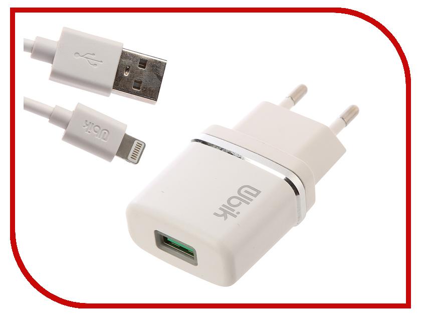 Зарядное устройство Ubik UHP11L 1xUSB 1A Кабель Lightning кабель lightning 1м wiiix круглый cb120 u8 10b
