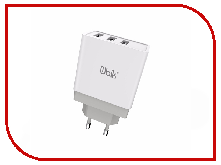 Зарядное устройство Ubik UHS33 3xUSB 3.4A White зарядное устройство crown cmwc 3083f 3xusb white grey