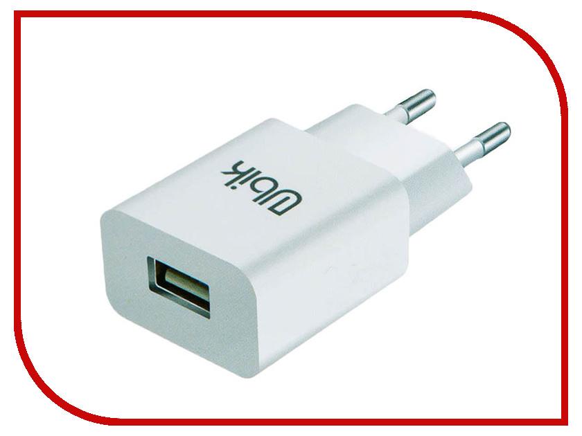 Зарядное устройство Ubik UHS12QC3L 1xUSB 3-1.3A Quick Charge Кабель Lightning White аксессуар ubik ul07 usb lightning yellow