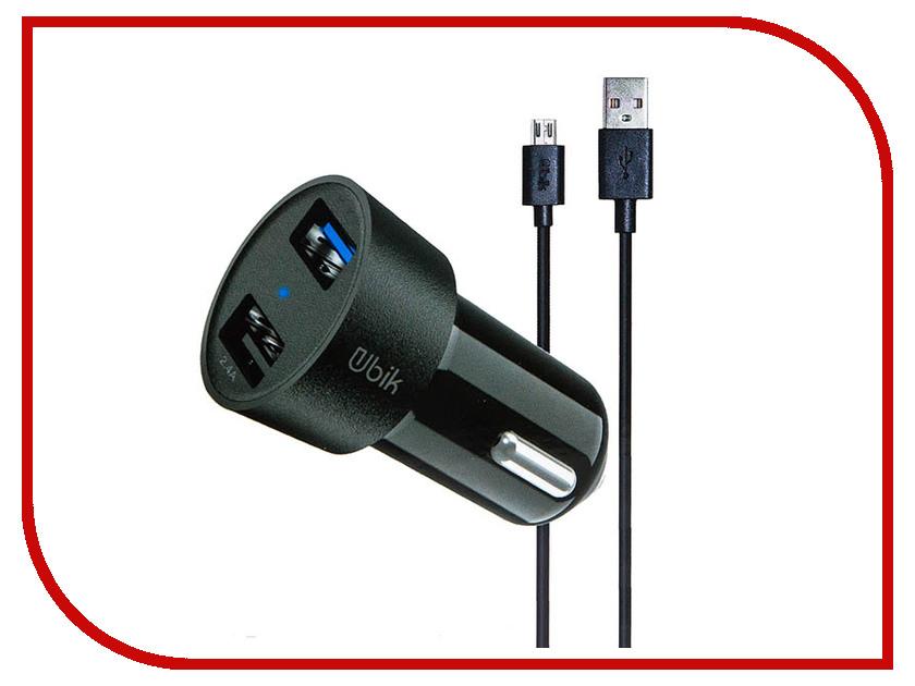 Зарядное устройство Ubik UCP23M 2xUSB 3.4A Кабель MicroUSB Black