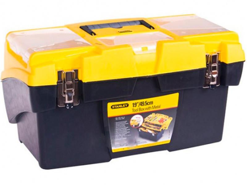 Ящик для инструментов Stanley Mega Cantilever 1-92-911 ящик тележка stanley 1 94 210 fatmax mobile work station cantilever 52x38x73 см черный