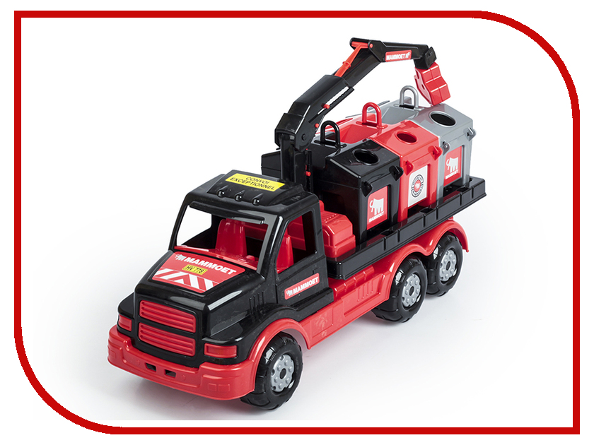 Машина Полесье Mammoet Контейнеровоз 68507 полесье полесье игровой набор mammoet volvo автомобиль эвакуатор конструктор 36 элементов