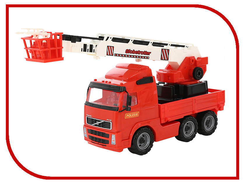 Игрушка Полесье Volvo Автомобиль пожарный 58386 игрушка полесье volvo автомобиль трейлер автокар конструктор супер микс 30 дет 58409