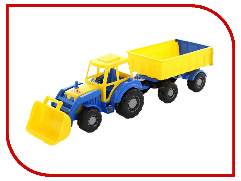 Машина Полесье Алтай Трактор с прицепом №1 и ковшом 35349 полесье конструктор автомобиль легковой с прицепом