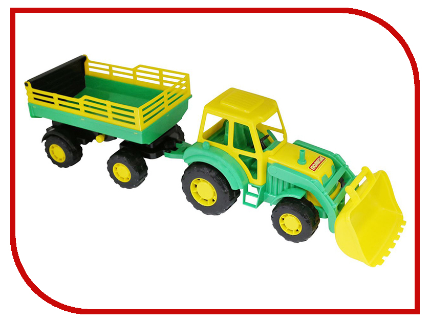 Машина Полесье Алтай Трактор с прицепом №2 и ковшом 35363 полесье конструктор автомобиль легковой с прицепом
