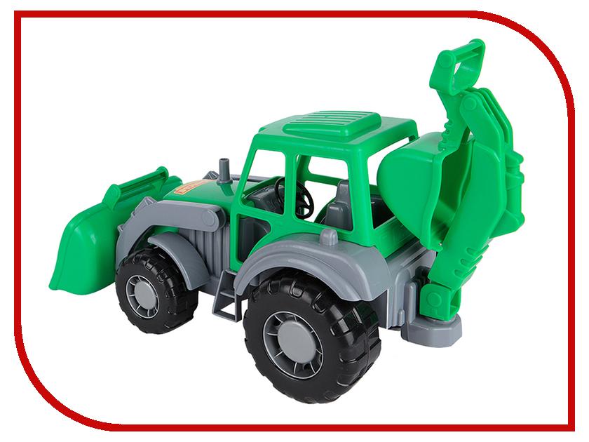Машина Полесье Алтай Трактор-экскаватор 35394 машина детская полесье полесье набор автомобиль трейлер трактор погрузчик