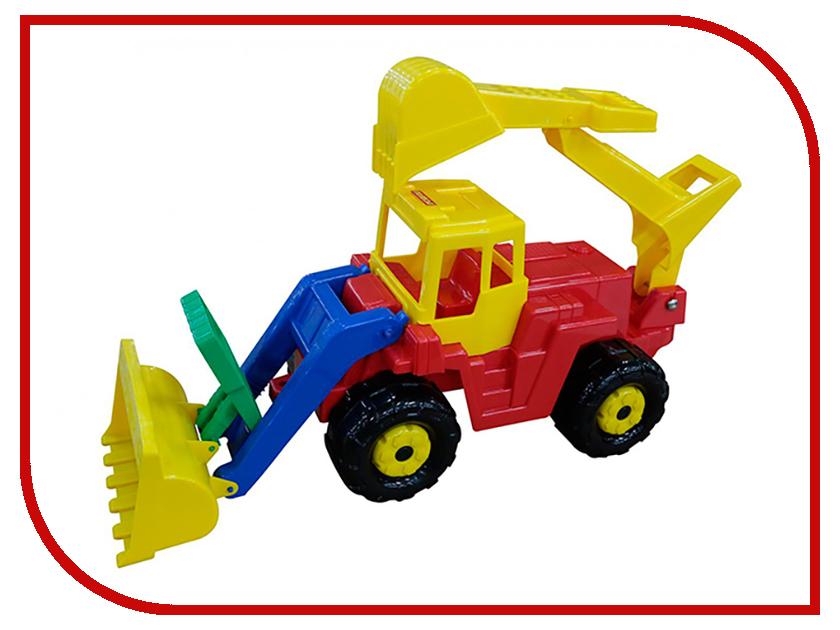 Машина Полесье Батыр трактор-экскаватор 46758 машина детская полесье полесье набор автомобиль трейлер трактор погрузчик