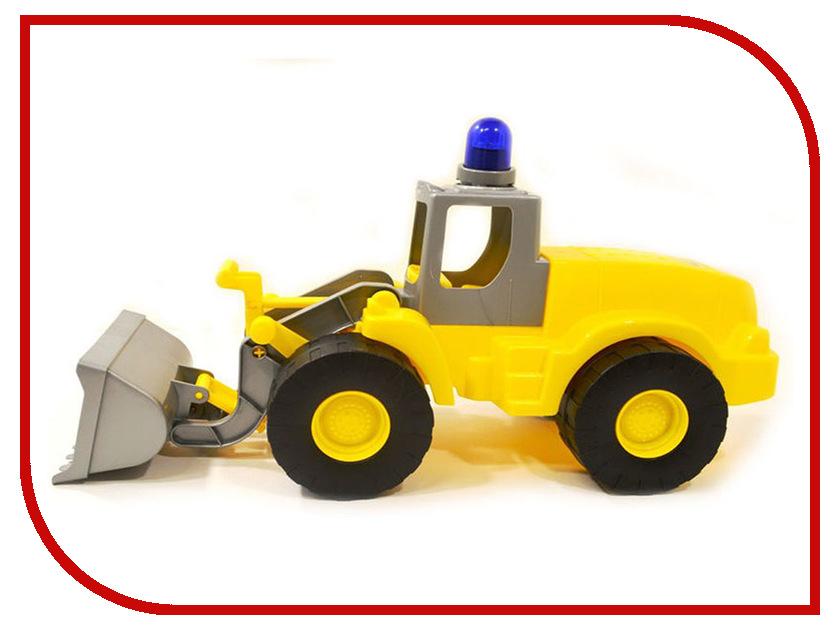 Машина Полесье Гранит трактор-погрузчик с маячком 41319 машина детская полесье полесье набор автомобиль трейлер трактор погрузчик