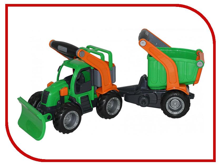 Машина Полесье ГрипТрак трактор снегоуборочный с полуприцепом 48400 машина детская полесье полесье набор автомобиль трейлер трактор погрузчик