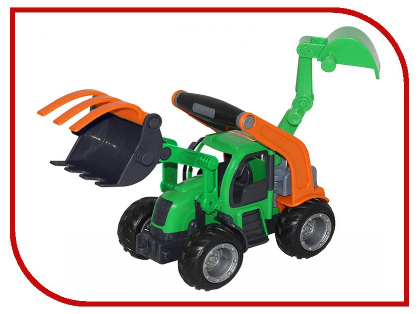 Машина Полесье ГрипТрак трактор-погрузчик с ковшом 48394 полесье полесье игровой набор mammoet volvo автомобиль трейлер и трактор погрузчик