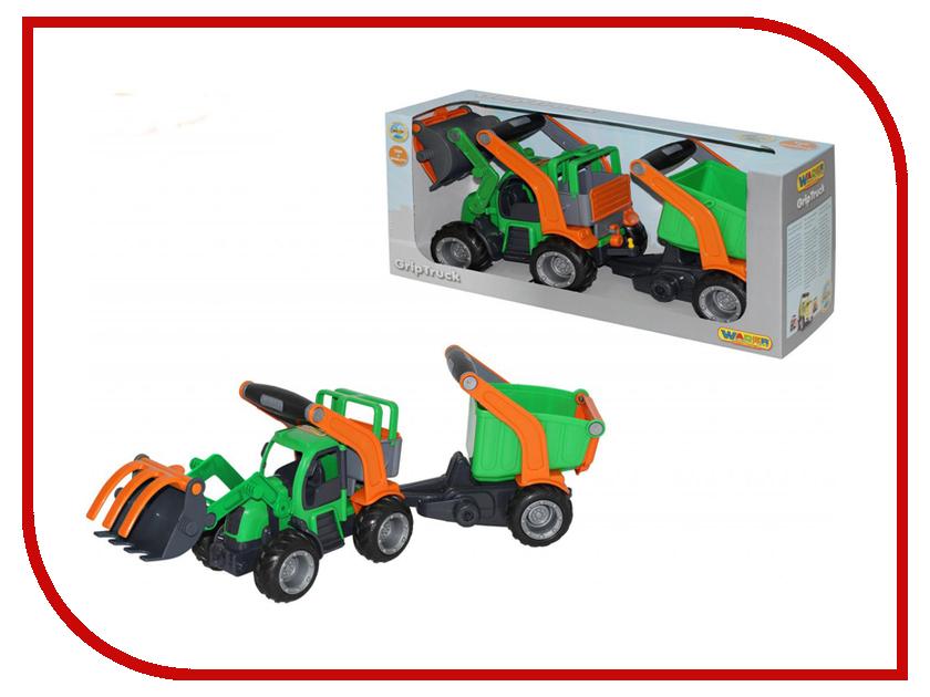 Машина Полесье ГрипТрак трактор-погрузчик с полуприцепом 37411 машина детская полесье полесье набор автомобиль трейлер трактор погрузчик