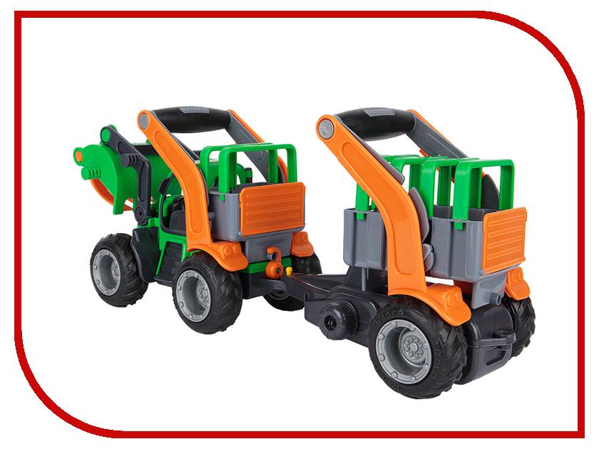 Машина Полесье ГрипТрак трактор-погрузчик с полуприцепом для животных 37398 полесье полесье игровой набор mammoet volvo автомобиль трейлер и трактор погрузчик