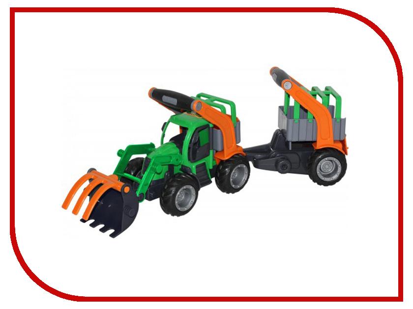 Машина Полесье ГрипТрак трактор-погрузчик с полуприцепом для животных 48417 полесье полесье игровой набор mammoet volvo автомобиль трейлер и трактор погрузчик
