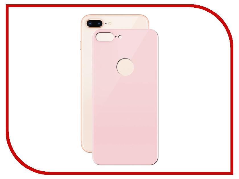 Аксессуар Защитное стекло LuxCase 3D Back для APPLE iPhone 8/7 Plus Pink 77708 аксессуар защитное стекло activ 3d red для apple iphone 7 plus 69759