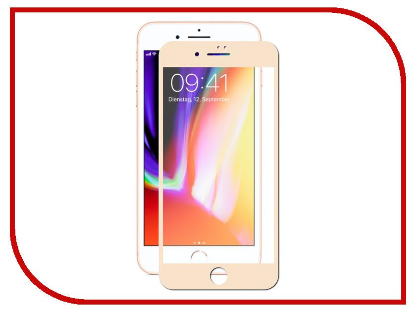 Аксессуар Защитное стекло LuxCase 3D для APPLE iPhone 8/7 Plus Ivory Frame 77912 аксессуар защитное стекло activ 3d red для apple iphone 7 plus 69759