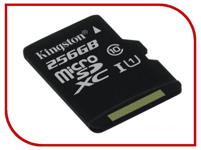 Карта памяти 256Gb - Kingston MicroSDXC Class 10 UHS-I U1 Canvas Select SDCS/256GBSP карта памяти transflash 64гб microsdxc class 10 uhs i u3 90r 45w kingston canvas go