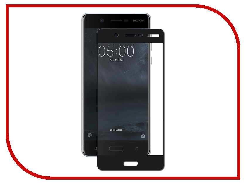 Аксессуар Защитное стекло для Nokia 5 LuxCase 3D Black Frame 77372 new black for nokia lumia 630 635 lcd display touch screen with digitizer assembly replacement parts free shipping with tools