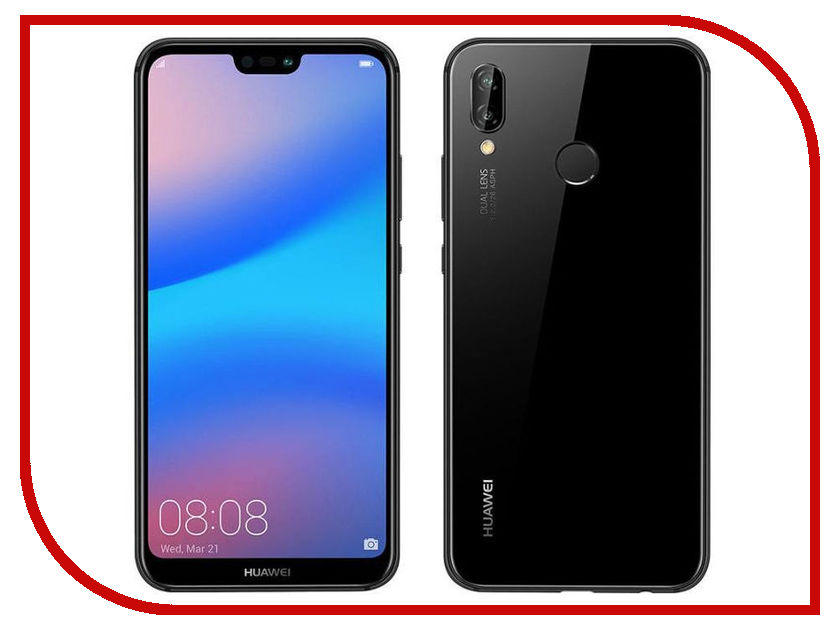 Сотовый телефон Huawei P20 Lite Black сотовый телефон huawei p20 lite black