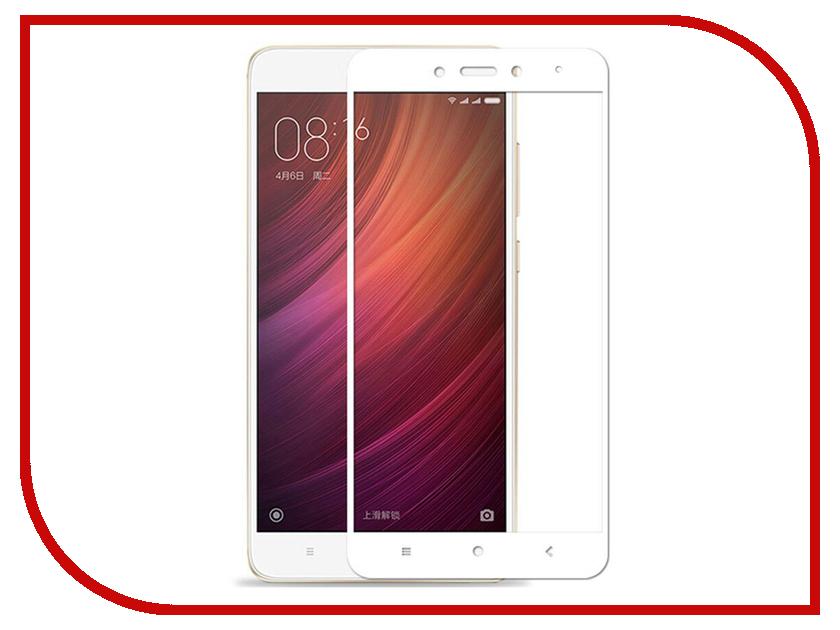 Аксессуар Защитное стекло Xiaomi Redmi Note 4 LuxCase 3D White Frame 77375 luxcase защитное стекло luxcase для xiaomi redmi note 5a 5aprime