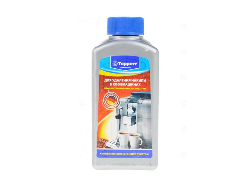 Фото - Средство от накипи для кофемашин Topperr 3006 250ml средство topperr для очистки от накипи кофемашин 3006