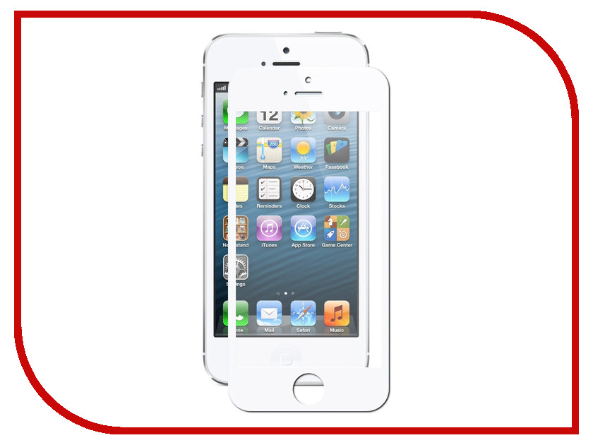 Аксессуар Закаленное стекло DF Full Screen для APPLE iPhone 5/5S/SE iColor-02 White 2pcs aaa quality lcd for iphone 5s lcd display with touch screen digitizer assembly replacement for iphone 5s screen white black