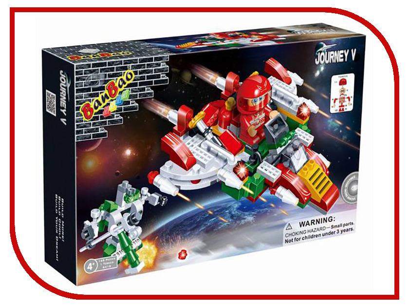 Конструктор BanBao Космический летательный аппарат 145 дет. 6412 / 53108 банбао игрушка пластм конструктор космический летательный аппарат 237 дет banbao