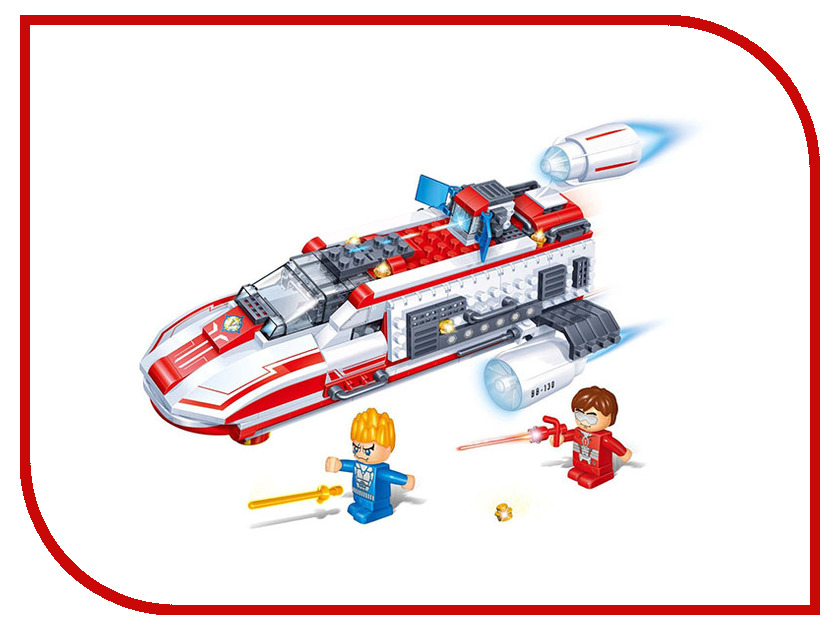 Конструктор BanBao Космический летательный аппарат 237 дет. Red 6407 / 52940 банбао игрушка пластм конструктор космический летательный аппарат 237 дет banbao